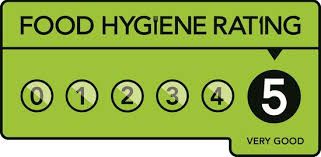 We have a food hygiene rating of 5.